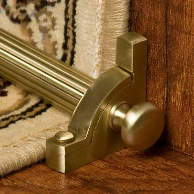 Signature Hardware Solid Brass Mushroom Stair Rod Set