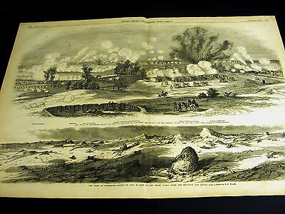 Civil War SEIGE at ST. PETERSBURG 9th CORPS Mine Train 1864 Large Mullen Print