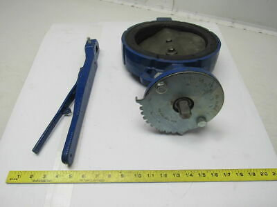 "Keystone Figure 221 8"" Cast Iron Butterfly Valve Stainless Disc & Stem W/Handle"