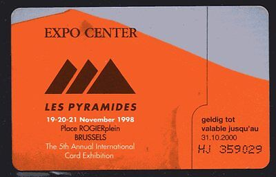 chipcard Belgium  -EXPO CENTER LES PYRAMIDES CardEx98     see scans
