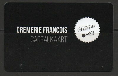giftcard Belgium -  CREMERIE FRANCOIS cadeaukaart  - see scans