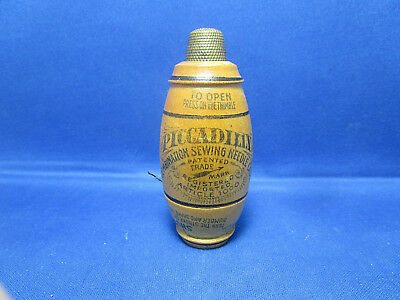 Vintage Piccadilly Combination Sewing Needle Case With Brass Thimble