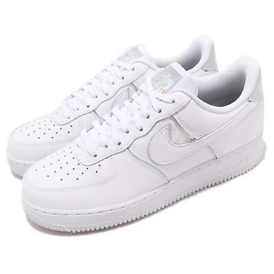 Nike Air Force 1 07 LV8 4 White Iridescent Men Casual Shoes Sneakers AT6147-100