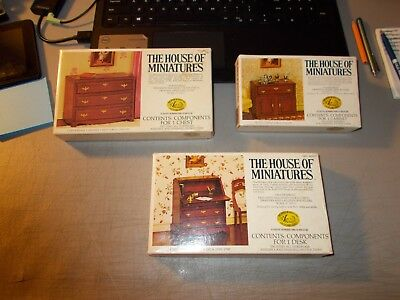 Lot Of 3 The House Of Miniatures Dollhouse Furniture In Opened Boxes X-Acto #1