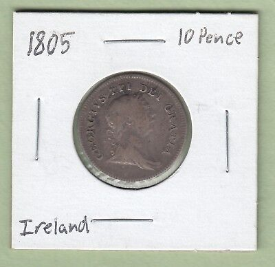 1805 Bank of Ireland 10 Pence Silver Token