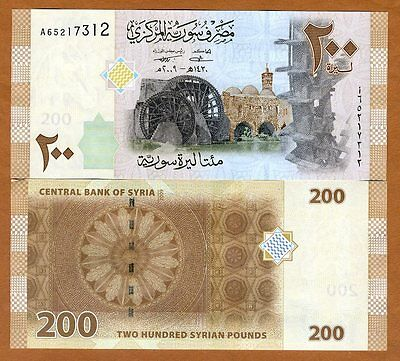 Syria, 200 pounds, 2009 (2010), P-114, UNC