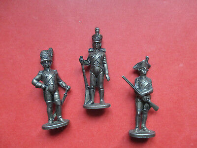 3 SOLDATS KINDER METAL MAXI ( 50mm )