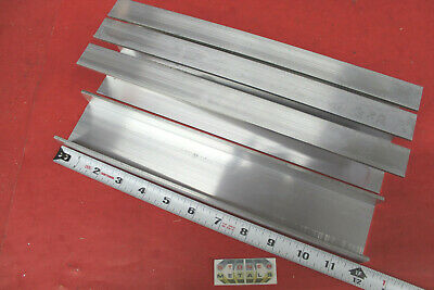 "4 Pieces 2-1/4"" x 1"" x 1/8"" Wall 6061 T6 ALUMINUM CHANNEL 12"" long Mill Stock"