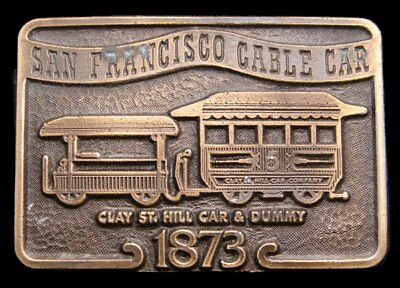 IE04117 VINTAGE 1970s ***1873 SAN FRANCISCO CABLE CAR*** BELT BUCKLE