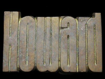 Id29170 1978 Cut-Out Name ***Howard*** Solid Brass Belt Buckle