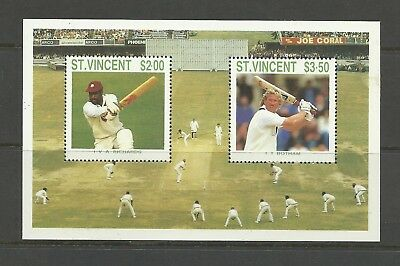 ST VINCENT GRENADINES 1988 Cricketers  umm / mnh miniature sheet