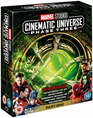 MARVEL Cinematic Universe Phase Three 3 Part One - Five Movie Set Blu-Ray NEW