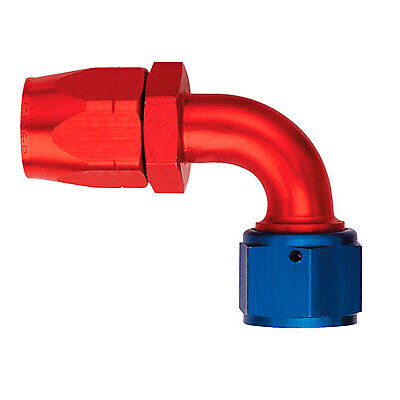 Aeroquip Race / Rally AQP 90 Degree Alloy Fitting Blue / Red - AN - 4 JIC