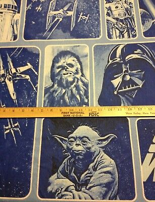 "60"" STAR WARS clone GALAXY r2d2 YODA lightsaber C3PO darth vader BTHY fabric"
