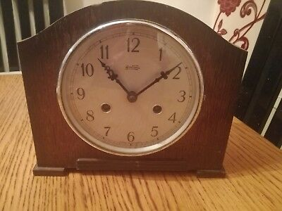 Vintage Bentima 8 Day Chiming Mantel Clock Spares Or Repair