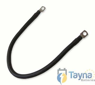 Black Batterie Cable 30cm x 25mmsq with 10mm Eyelets