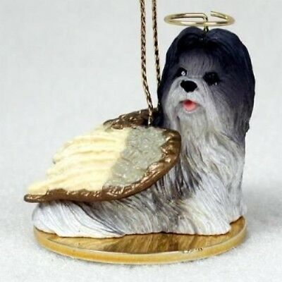 Small Angel SHIH TZU GREY Dog Breed Angel Christmas Holiday Ornament