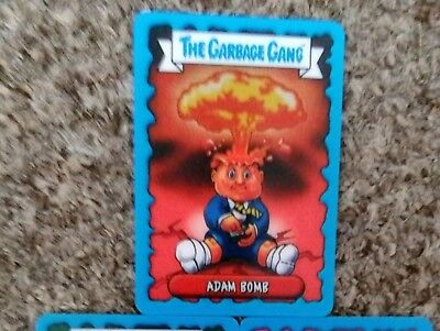 TOPPS garbage gang trading cards ,garbage gang lenticular card Adam bomb (A)