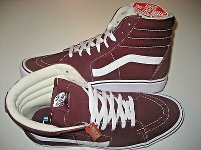 b2994d705fec Vans Sk8-Hi Lite Mens Suede Canvas Port Royal Red White Skate shoes Size 11