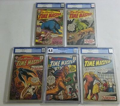 Lot Of (5) Cgc Graded Comics Rip Hunter... Time Master Dc #1 5 7 9 15