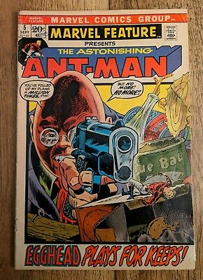 Marvel Feature 5 presents Ant-Man, VF- from 1972!