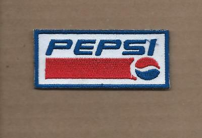 New 1 3/8 X 4 1/8 Inch Pepsi Iron On Patch Free Shipping