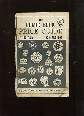 Overstreet Comic Book Price Guide #1 1St Print 1970