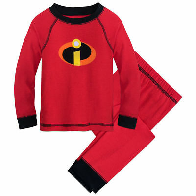 Disney Store Mickey Mouse Boy 2PC Long Sleeve Tight Fit Cotton Pajama Set Size 7