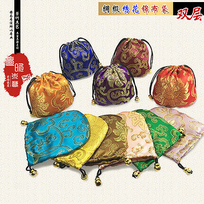 Wholesale10pcs Chinese Handmade Classic Silk Jewellery Pouch/Coin Purse Gift Bag