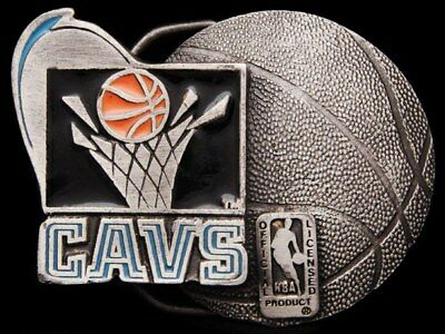 Jh15112 Cool Vintage 1994 **Cleveland Cavaliers** Basketball Pewter Belt Buckle