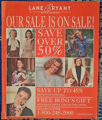 DM...Lane Bryant Fifth Avenue Fashion Catalogue from later 1980's