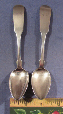 Two Antique William Pratt Coin Silver Spoons