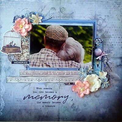 12 x 12 Handmade Scrapbook Page - When Smeone You Love Becomes A Memory...