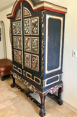 Amazing Hand Carved Antique Solid Teak Cabinet~ Armoire -