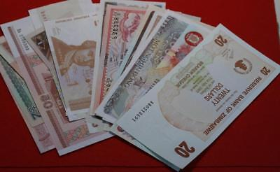25 Uncirculated Mixed Country Foreign Notes