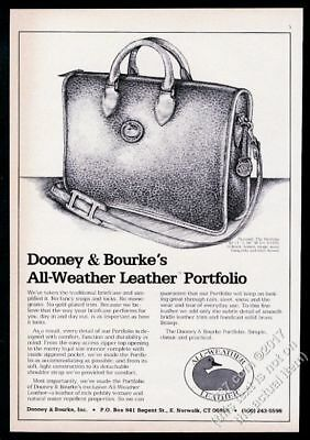 1973 Dooney & Bourke luggage Portfolio bag illustrated vintage print ad