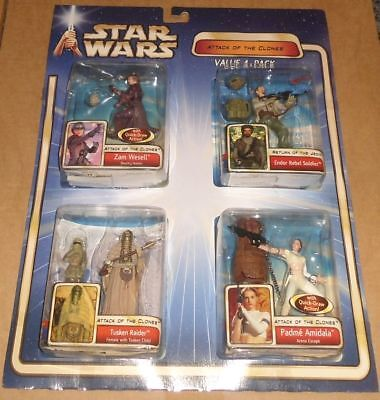 Star Wars - Attack of the Clones - Value 4 Pack - NEW - OV