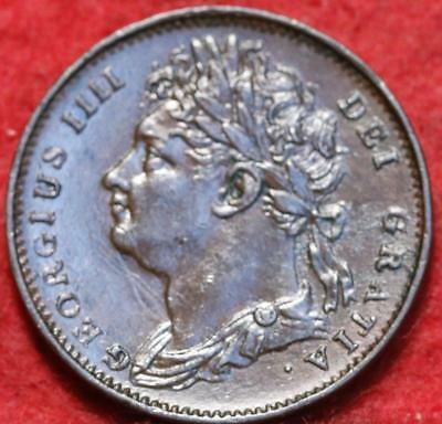 1821 Great Britain 1 Farthing Dot After Date Foreign Coin