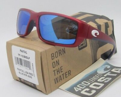 1cc8f21313a51 COSTA DEL MAR red blue mirror USA FANTAIL POLARIZED 400G sunglasses NEW IN  BOX!
