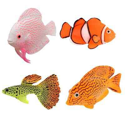 Silicone Simulation Luminous fish Aquarium Supplies Fish Tank Decoration