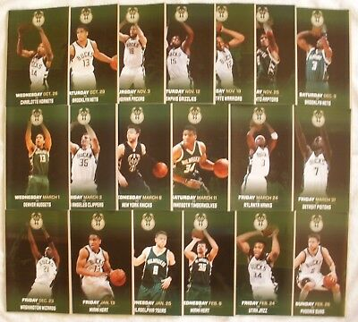Lot of 19 Milwaukee Bucks Game Programs w Giannis, Jabari Parker, Maker & more