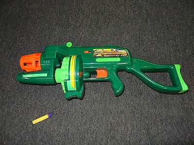 Buzz Bee Toys Air Blasters Motorized Automatic Tommy 20 Toy Gun **works Great**
