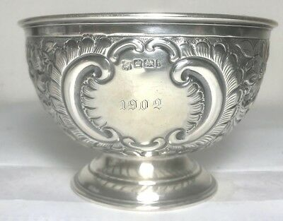 Rare antique English sterling silver bowl, Sheffield , hallmarked 1901
