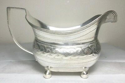 Rare antique English sterling silver Jug , London, hallmarked 1808