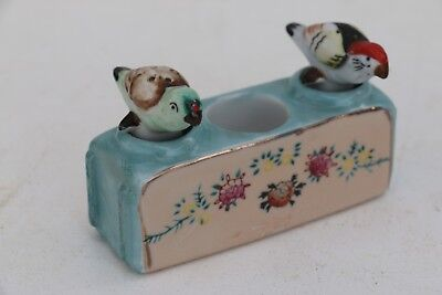 "Superb Vintage ""Patent TT"" Parrot - Nodding Salt and Pepper Shakers Perfect!!"