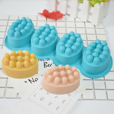 Cavity Cake Mould Silicone Soap Tray Durable Non-stick Soft Chocolate 3D Hot