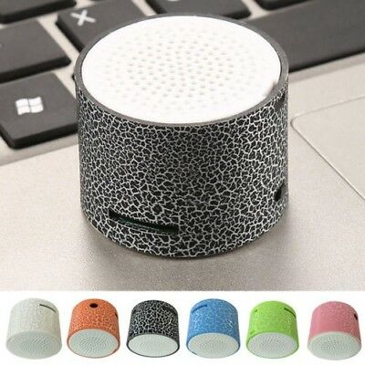 3.5MM USB Portátil Bluetooth Grieta Patrón Mini Altavoz Estéreo Inalámbrico MP3