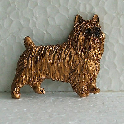 Australian Terrier Red Brooch Dog Breed Jewellery Handpainted Handcrafted Resin