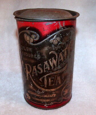 RARE RASAWATTE TEA TIN / CANISTER - EARLY 1900's - MELBOURNE TEA MERCHANT - 1LB