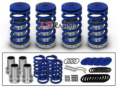 COILOVER LOWERING COIL SPRINGS KIT BLUE For 98-02 Honda Accord